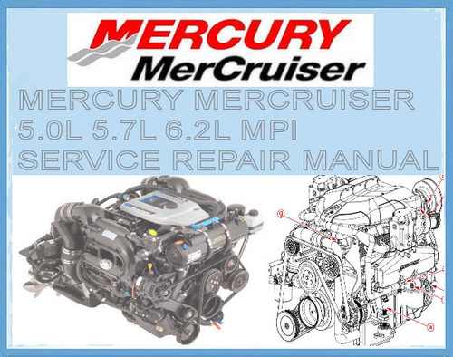 Product picture MERCURY MERCRUISER 5.0L 5.7L 6.2L MPI WORKSHOP MANUAL